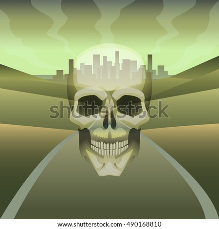 vector illustration skull