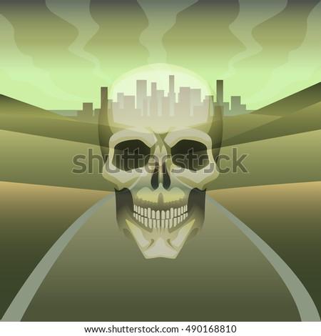 vector illustration skull