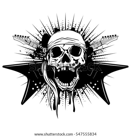 vector illustration skull with