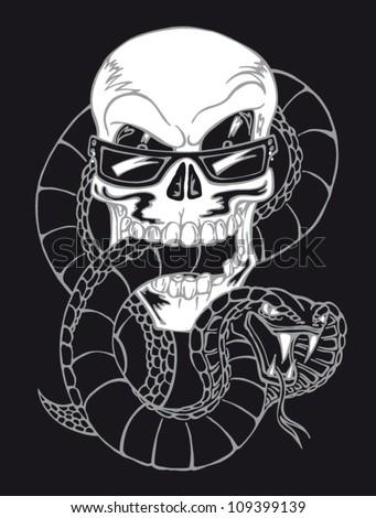 vector illustration skull with