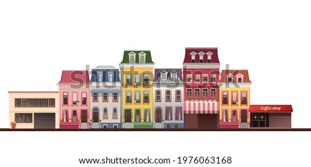 vector illustration  small town