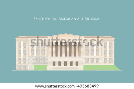 Vector Illustration : Smithsonian American Art Museum