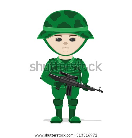 vector illustration soldier