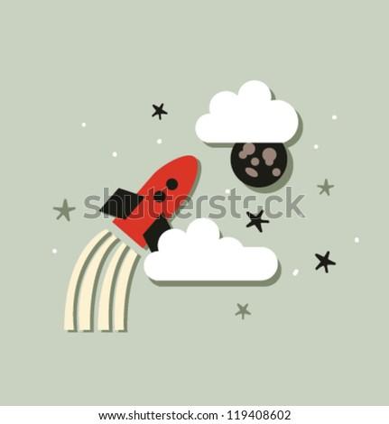 Vector illustration spaceship