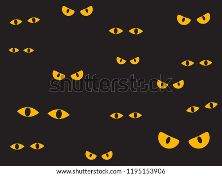 vector illustration spooky eyes