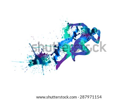 vector illustration  sprinter