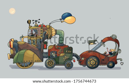 vector illustration steampunk