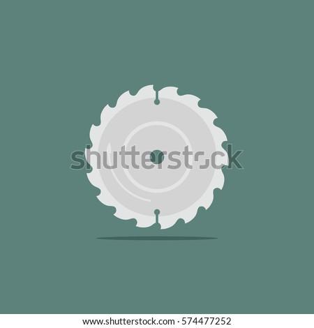 vector illustration steel blade