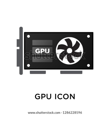 Vector illustration style is flat iconic symbols. Gpu Card icon. graphics processing unit icon vector