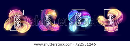 vector illustration. stylish set of backgrounds bright morphing out lines. design of hipster frames. element of graphics for decoration in posters, flyer, cards, covers. simple geometric shapes. set 3