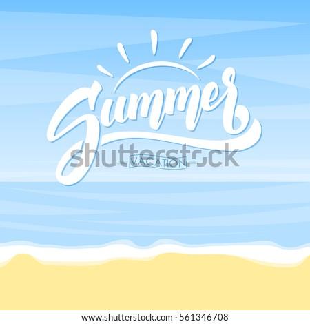 vector illustration  summer