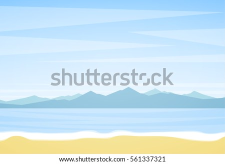 vector illustration  summer