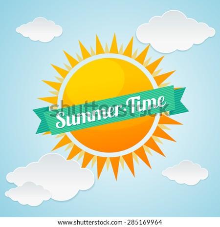 vector illustration sun and