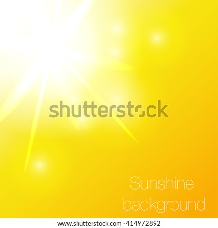 vector illustration sun in the