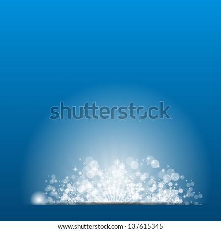 Vector illustration sun on blue background.