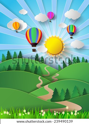 vector illustration sunlight on