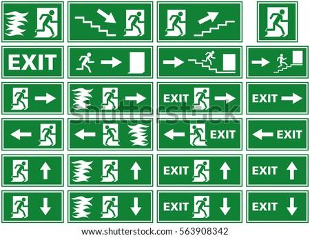 Emergency Fire Escape Symbol Vectors Free Vector Art At Vecteezy