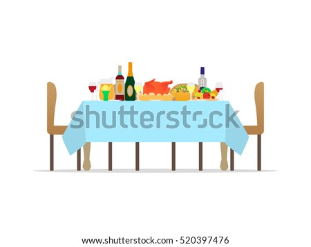 vector illustration table for