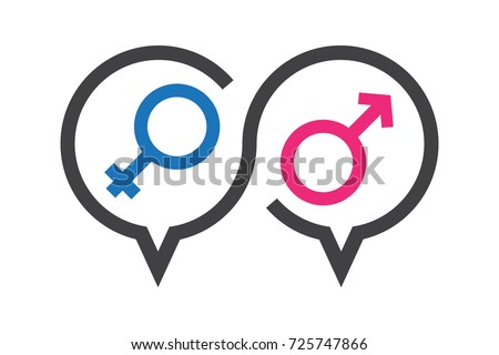 Vector illustration, talk icon about sex in discussion, knowledge about sex education.