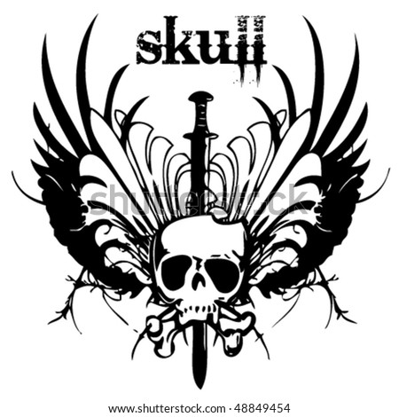 skull tattoo design. 32k: piston skull tattoo
