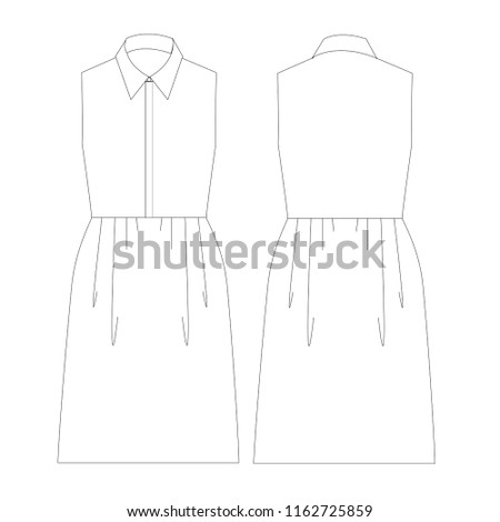 Airstock Is Vector Illustration Technical Sketch Drawing Women