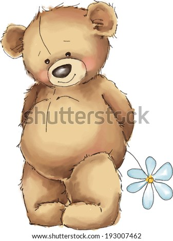 vector illustration teddy bear