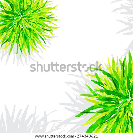 Vector illustration. Template watercolor green grass on a white background. #274340621