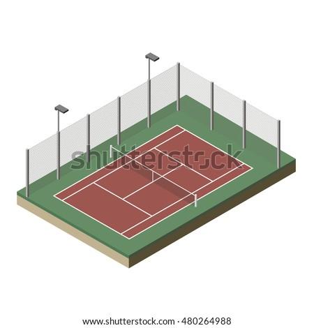 vector illustration tennis