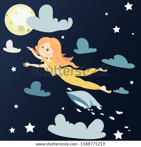 vector illustration the girl is