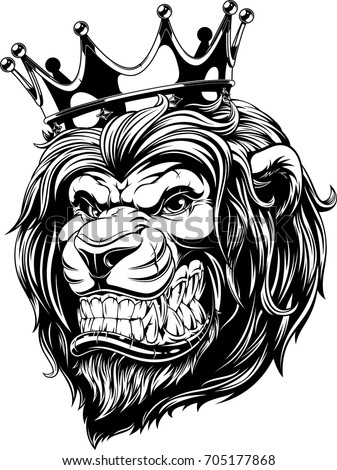 vector illustration the lion