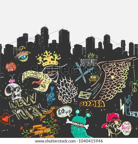 vector illustration the urban
