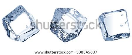 vector illustration three ice
