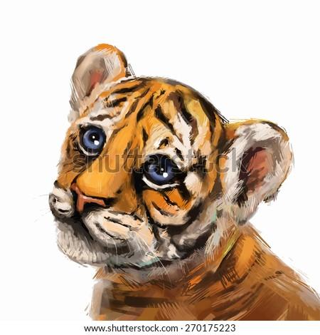 vector illustration tiger
