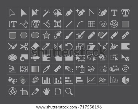 Vector Illustration Tool Icons stock photo