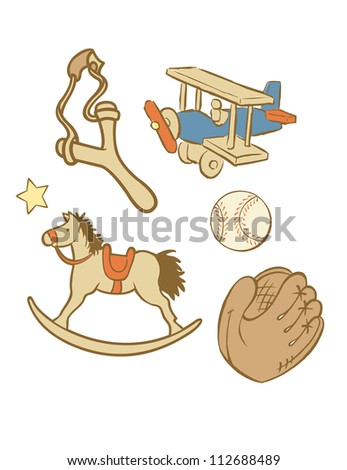 Vector illustration Toys Boy