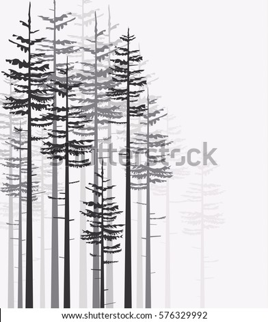 vector illustration trees