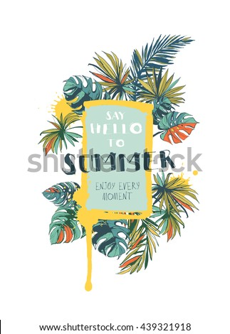 vector illustration tropical