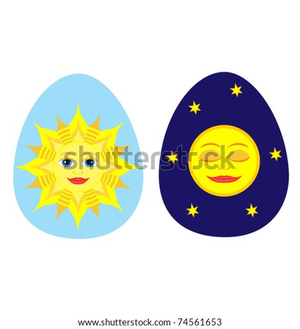 vector illustration two easter