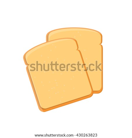 vector illustration two toast