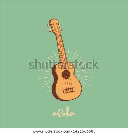 vector illustration   ukulele
