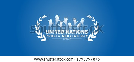 Vector Illustration United Nations Public Service Day June 23.  Template for background, banner, card, poster with text inscription.  Foto stock ©