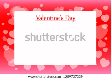 Elegant Valentine S Day Red And White Heart Background Download