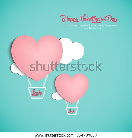 vector illustration.valentine's day.with beautiful heart