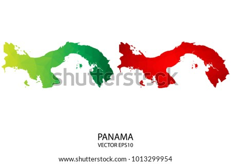 Central America Map Flag Free Vector Download Free Vector Art - Panama map vector