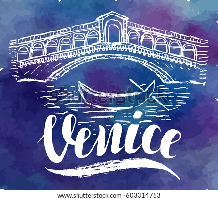vector illustration  venice...
