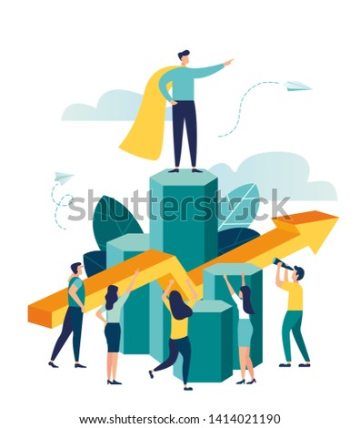 Vector illustration, virtual business assistant. teamwork on performance, brainstorming, card investment management. investing money in a project Vector - Vector