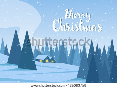 vector illustration  winter