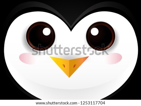 vector illustration with a cute
