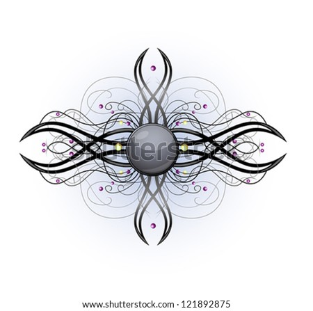 Vector illustration with abstract shape
