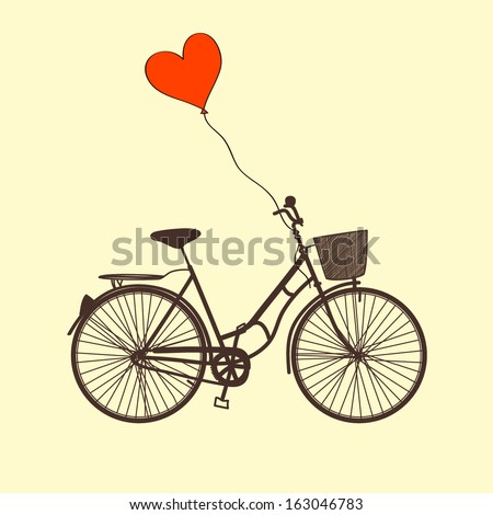 vector illustration with bike...